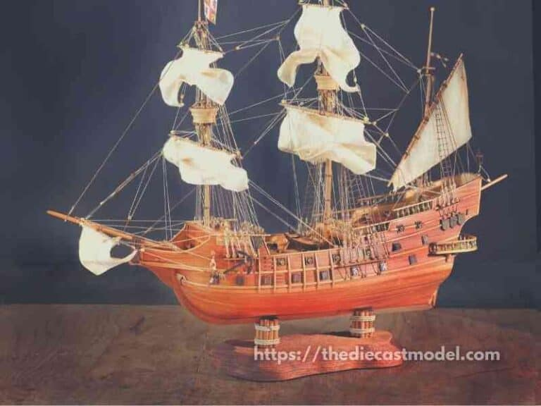 What are model ships made from?